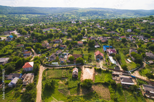 Foto Murales Dron View on Old Village