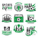 Soccer Sport Bar Football Beer Pub Icons Wall Sticker