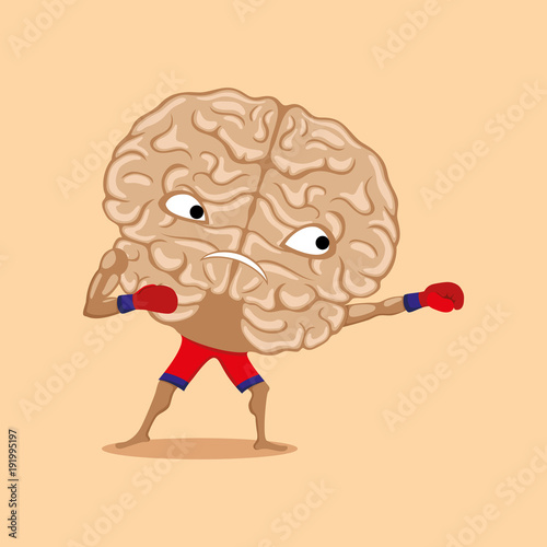 Strong brain ready for battle.