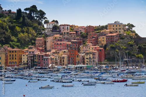Papiers peints Ligurie Beautiful old Lerici town in Liguria region (Italy)