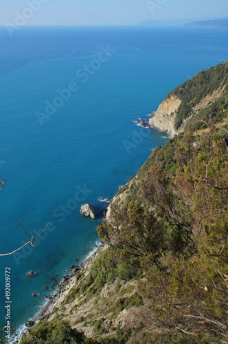 Foto op Aluminium Liguria Out to the blue, coastline view