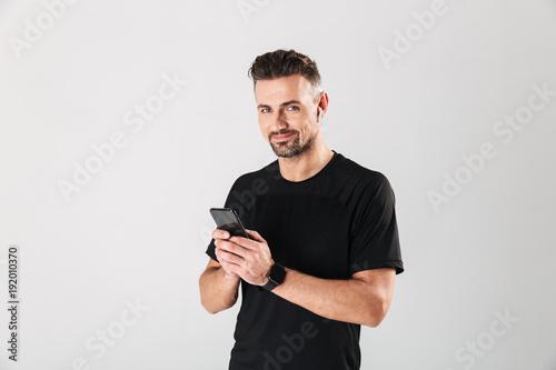 Portrait of a happy mature sportsman