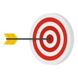 Perfection target icon. Flat illustration of perfection target vector icon for web - 192013318