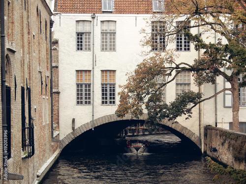 Fotobehang Brugge Bruges Boat Ride, Belgium