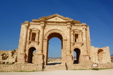 Hadrian's Arch, Emperor Hadrian in the archaeological city of Jerash, one of the world's largest sites of Roman architecture, Gerasa, Jerash, Jordan - 192016115