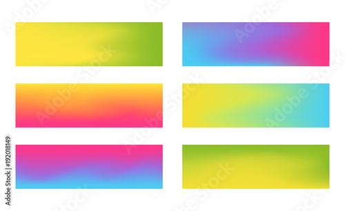 Zestaw transparentów poziomych o wymiarach 384 x 115 z żywą siatką gradientu