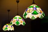 Multi color glass lamp . Interesting interior - 192021763