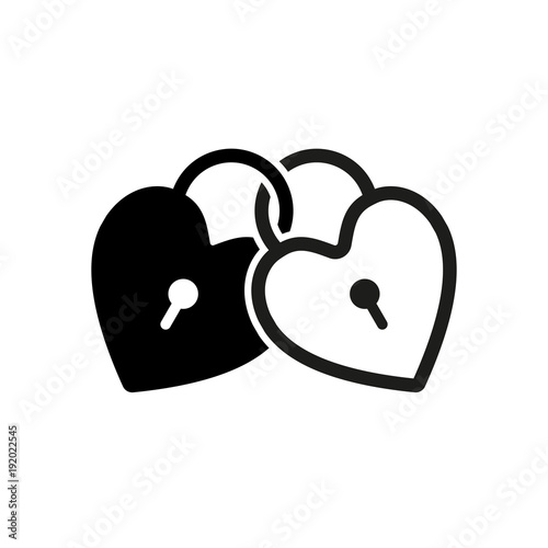 linked hearts lock icon buy photos ap images detailview