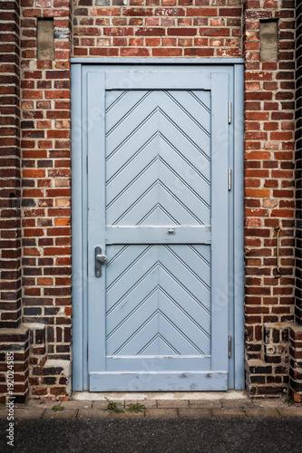 Tür Tor im Klinker Haus