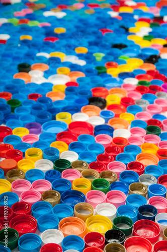 Colorful plastic caps