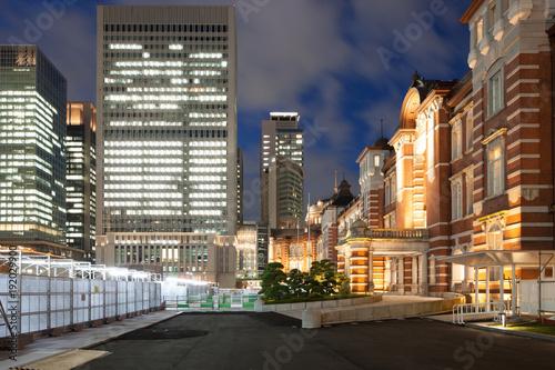 Fotobehang Tokio 東京・丸の内の夜景