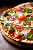 Pizza with Salami and Ham - 192035552