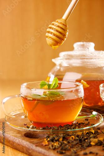 black tea with honey