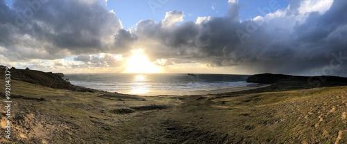 Foto op Aluminium Zee zonsondergang Wintertag am Meer