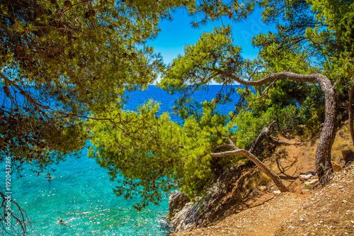 Beautiful landscape of Croatia, Croatia coast, sea and mountains. Panorama - 192043786