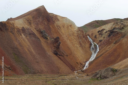Islandia - Tęczowe Góry Landmannalaugar w interiorze