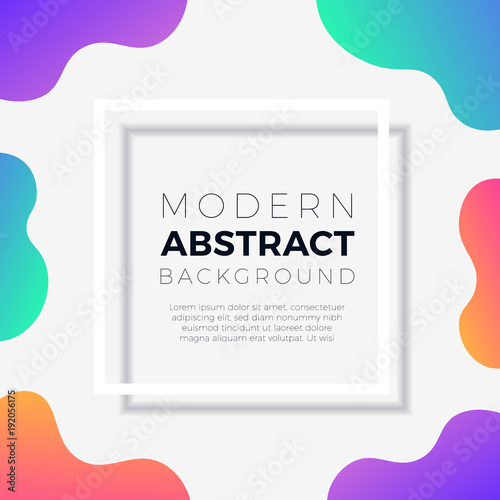 Abstract Colorful Vibrant Gradients Sign Background