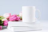 white mug mockup wit...