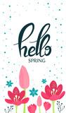 Hello spring card. - 192063727