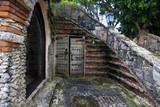 Wooden antique door in Altos de Chavon - 192067517