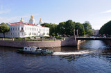 View of St Nicholas Naval Cathedral across canal St Petersburg, Russia - 192069367