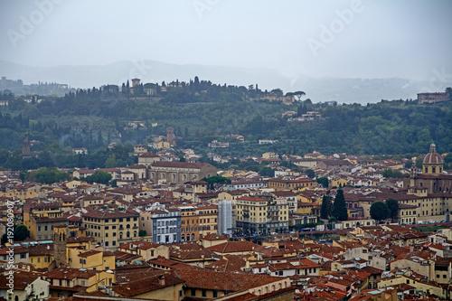 Fotobehang Toscane Florenz aus der Vogelperspektive