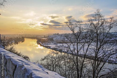 Aluminium Krakau Wisla (Vistula) river near to Krakow, Poland