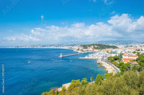 Foto op Aluminium Nice Nice city french riviera mediterranean sea blue sky
