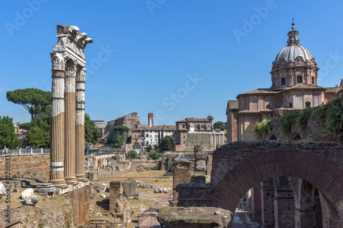 Papiers peints Rome Amazing view of Trajan Forum in city of Rome, Italy