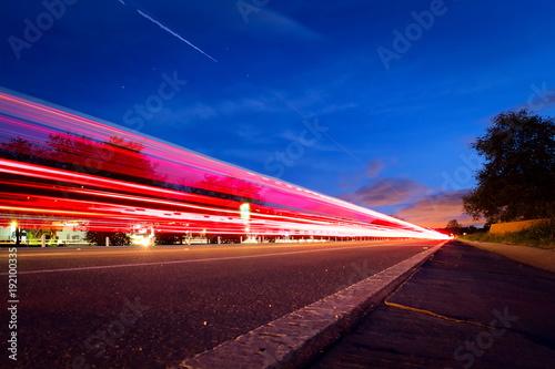 Deurstickers Nacht snelweg The Colors line