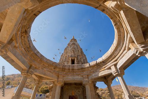 Foto Murales Hindu temple in Amer Jaipur Rajasthan India