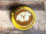 Coffee latte with dog puppy milk art - 192104776