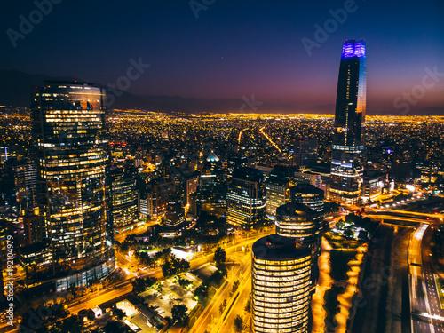 Foto op Aluminium New York Amazing aerial cityscape of Santiago de Chile