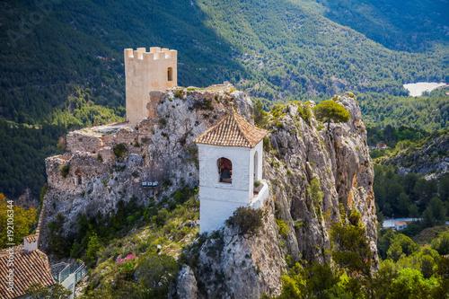 landscape with guadalest castle