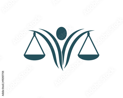 Wall mural justice law Logo Template vector