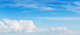 Wide blue sky, panoramic background photo