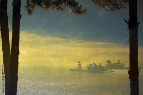 Fotobehang Thailand pang ung maehongsorn northern of thailand most popular traveling destination
