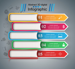 Paper colr book - business infographic. Vector eps 10