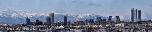 Foto op Canvas Madrid Skyline of the city of Madrid, capital of Spain