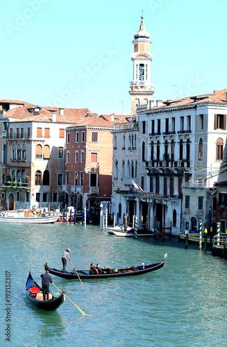 Foto op Plexiglas Venetie Grand canal of venice with gondolas