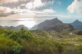 Mountain serpentine. The road is mountainous. The way from Anaga to Santa Cruz de Tenerife. Stunning top view. Anaga, Tenerife, Canary Islands, Spain. - 192138578