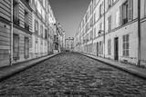 Picturesque cobbled street in Paris, France - 192143326