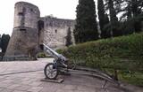 Little cannon exposedn in historic pubblic park