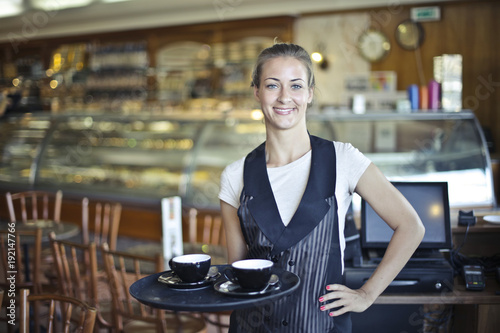 Waitress serving drinks - 192147766