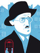 James Joyce vector illustration - 192149130