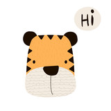 Funny little tiger. Vector hand drawn illustration. - 192153535