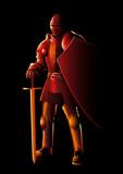 Medieval knight in full body armor - 192160573