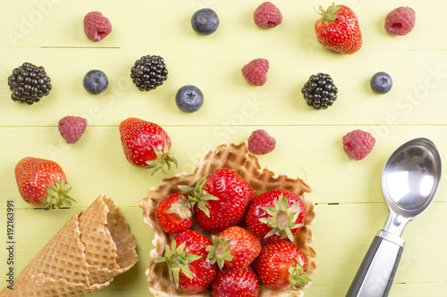 Fresh berries fruits