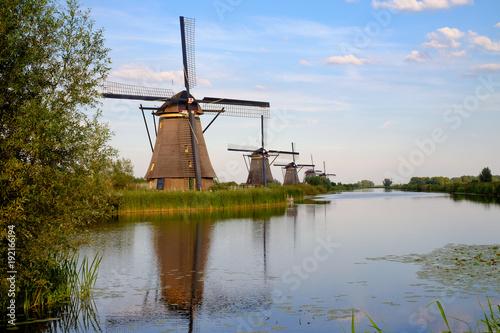Die berühmten Woindmühlen von Kinderdijk/NL