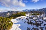 Scenery of Tatra mountains at winter, Poland